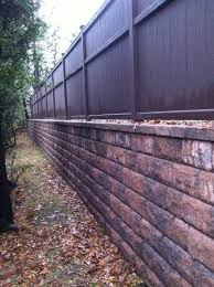 14 retaining wall w fence ideas