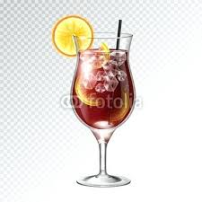 long island glass realistic cocktail long island ice tea glass vector ilration on transpa background long
