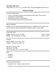 Singer Resume