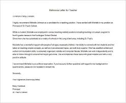 teacher letter of recommendation letter of recommendation for teacher 12 free word excel pdf