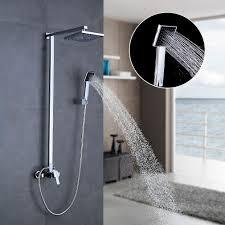 Auralum 8 Inch Duschkopf Regendusche Wasserfall Design überkopf Brauseset Rain Duschsystem Regenduschkopf Duschstange