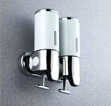 stainless steel kitchen soap dispenser wall mount pumps stainless steel pumps twin shampoo amp soap kitchen soap dispenser stainless