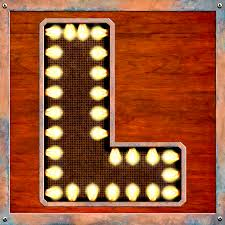 Lighted Letter L Retro Marquee Lighted Letter L