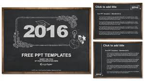 Chalkboard Ppt Theme 2016 Concept On Blackboard Powerpoint Templates