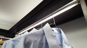 led closet rod illuminated