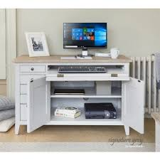 Innovative hidden home office computer desk Hideaway Baumhaus Signature Grey Hidden Home Office Desk cff06a Av4home Baumhaus Signature Grey Hidden Home Office Desk cff06a
