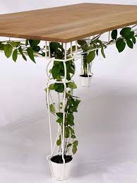 environmentally friendly furniture. Plants-under-table-eco-friendly-furniture-pics-photos Environmentally Friendly Furniture L