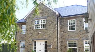 stone clad timber frame self build home by potton
