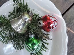 50er Jahre Quecksilber Glas Christbaumschmuck Ornamente Satz Von 3 Vintage Mid Century Quecksilber Glas Lampen Urlaub Miniatur Glasornamente