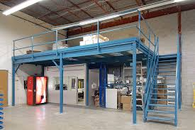 storage office space. Utilizing A Provincial Partitions Storage Mezzanine Structure Directly Over An Existing Cage, Was Able To Create Space Office F