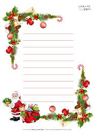 Free Printable Christmas Paper Letter To Santa Template With