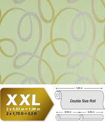 Vintage Behang Vliesbehang Edem 694 95 Met Golven Patroon Licht