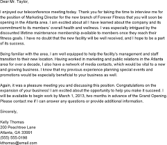 Thank You Letter For Telephone Interview Thank You Letter After Phone Interview Template Free