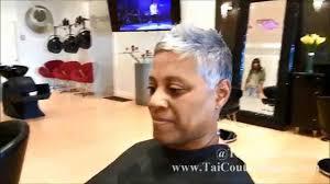Short Grey Hair Style gray hair pixie cut haircut short hair youtube 1693 by wearticles.com
