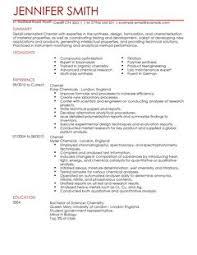 Science Resume Template Impressive Science CV Templates CV Samples Examples