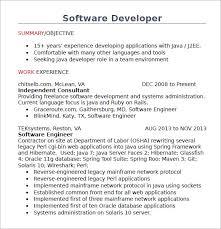 Resume For Java Developer Radiovkm Tk Resume Cover Letter Printable
