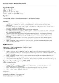 Cover Letter For Assistant Property Manager Property Management Resumes Englishor Com