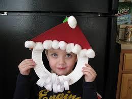 <b>Santa</b> Claus <b>mask</b> craft - paper plate, cotton balls, paper (Mommy's ...