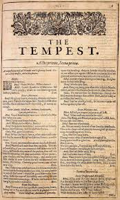 the tempest title page title page the first page of the tempest