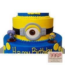 2183 3 Tier Minion Birthday Cake Abc Cake Shop Bakery