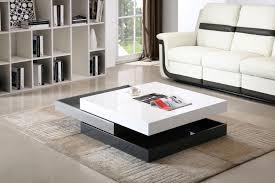Astonishing Three Layer Coffee Table Design White Gray Black As