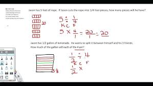 Fraction Worksheets Common Core Dividing Fractions Grade Math ...