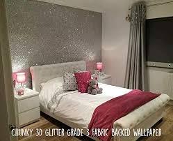 silver glitter wallpaper bedroom