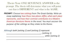 use subordinate clauses for this thesis and for the topic  thesis your one sentence answer to the prompt