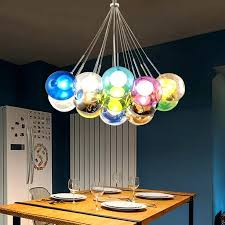 light modern led colorful glass bubbles pendant light chandelier ceiling lamp lighting colored drops parts