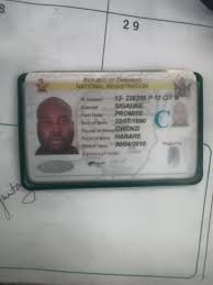 Sigauke Lost Found Passports Facebook Zimbabwe Id Documents N And - Promise Id For License