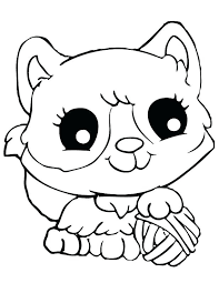Cat Coloring Pages Cute At Getdrawingscom Free For Personal Use