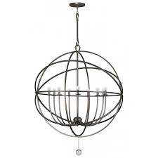 crystorama 9229 eb transitional nine light chandeliers from solaris collection in bronze darkfinish com