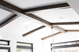 diy faux wood beams withheart faux wooden chandelier