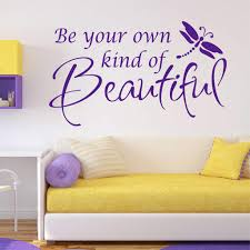 Beautiful Wall Quotes Best of Be Your Own Beautiful Decal Vinyl Lettering Wall Quotes