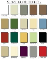 Standing Seam Roof Color Chart Metal Roofing Colors Available 890m Co