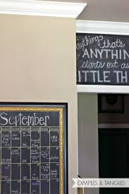 dimples and tangles diy oversized chalkboard calendar