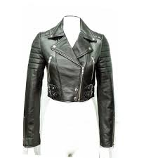cropped leather jacket cropped leather biker jacket cropped jacket padded jacket leather