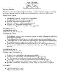 Sample Analyst Resume 21 Free Financial Analyst Resume Samples Sample Resumes