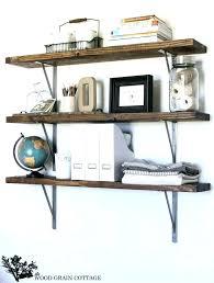 farmhouse shelf office shelves by the wood grain cottage style decor bathroom shelving bracket