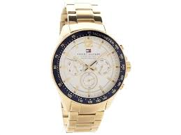 mens watches mens bracelet watch mens leather strap watch f tommy hilfiger luke gold plated chronograph bracelet watch w9564