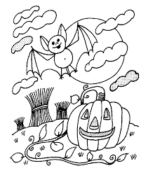 Small Picture Halloween Coloring Page For Preschool Halloween Coloring Pages