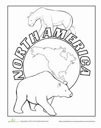 Small Picture North America Worksheet Educationcom