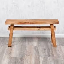 Shabby Chic Holzbank Massivholz Bank Indo Hocker Tisch Holz Sitzbank