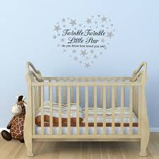 le le little star wall sticker with 60 silver star super