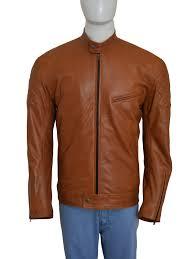 brown biker men jacket