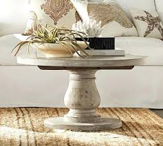whitewashed round coffee table white washed wooden coffee table