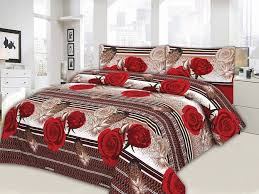king size bed sheet red flower design king size bed sheet online shopping in pakistan
