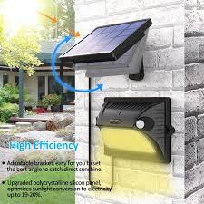 bovon solar lights outdoor dual motion detector 180 sensing 5 lighting modes adjustable solar panel