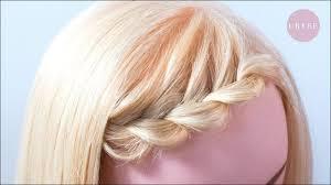 初心者必見伸ばしかけの前髪アレンジ 斜め編み込みのやり方 Youtube