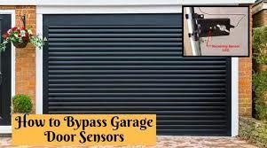 how to byp garage door sensors the